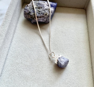 Decadorn Silver Birthstone Pendant - December Tanzanite