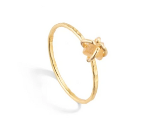 Decadorn Tiny Raw Cut Birthstone Ring - November Citrine