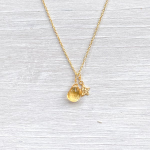 Citrine Star Gold Necklace