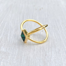Load image into Gallery viewer, Malachite Starburst Ring