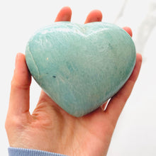 Load image into Gallery viewer, Amazonite Heart  (10cm)