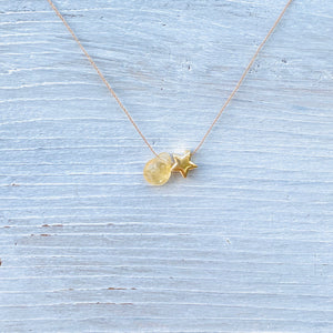 Citrine Star Fine Chord Necklace