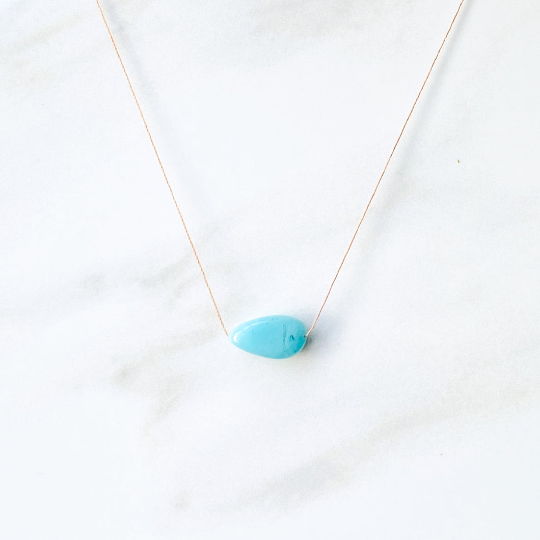 Amazonite Delicate Silk Chord Necklace