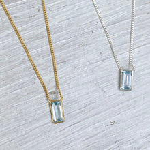 Load image into Gallery viewer, Aquamarine Delicate Necklace