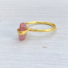 Load image into Gallery viewer, Pink Tourmaline Ring (size 54/N)