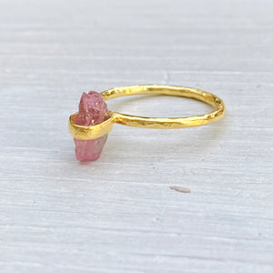 Pink Tourmaline Ring (size 54/N)