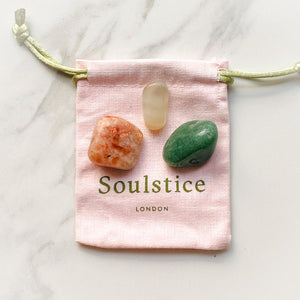 Spring Equinox Crystal Pouch