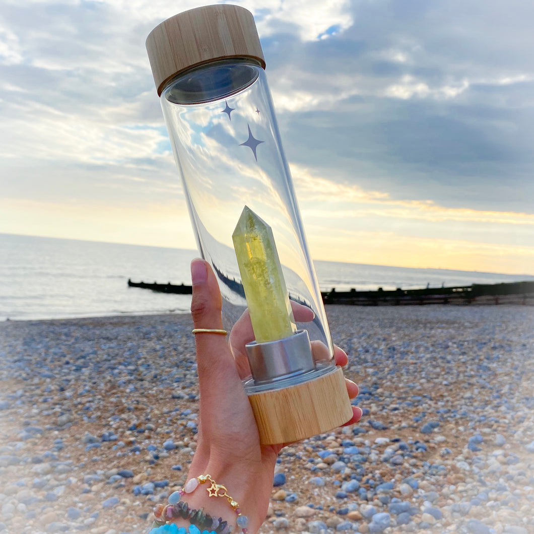 Citrine Crystal Water Bottle (available in Bamboo & Stainless Steel)            A further 20% taken off at checkout