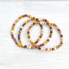 Load image into Gallery viewer, Mookaite Bead Bracelet (4mm bead)