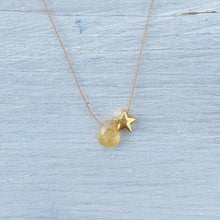 Load image into Gallery viewer, Citrine Star Fine Chord Necklace