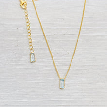 Load image into Gallery viewer, Aquamarine Skyla Necklace (Silver)