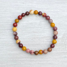 Load image into Gallery viewer, Mookaite Bead Bracelet (6mm bead)