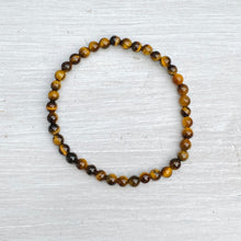 Load image into Gallery viewer, Tigers Eye Bead Bracelet (4mm bead)