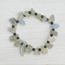 Load image into Gallery viewer, Labradorite Rough Bracelet