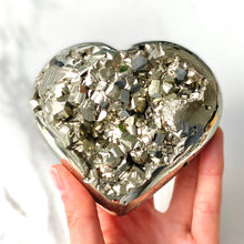 Load image into Gallery viewer, Pyrite Heart (10cm)