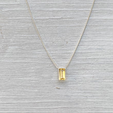 Load image into Gallery viewer, Citrine Skyla Necklace (Sterling Silver)