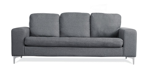 Grey_3 Seater Sofa,Fabric