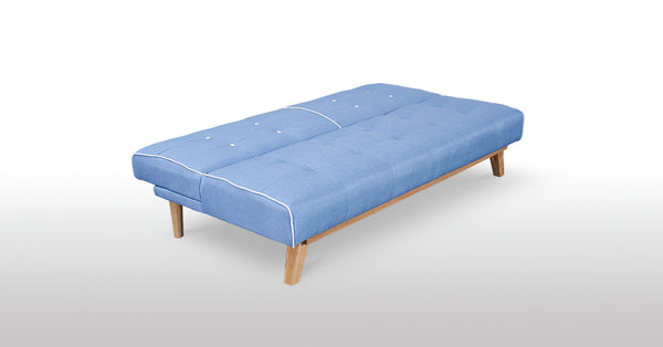 Sofa Bed in Grey ,Blue Fabric