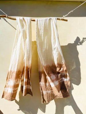 ⋒ naturally dyed organic cotton scarfs ⋒ - earthen yourself
