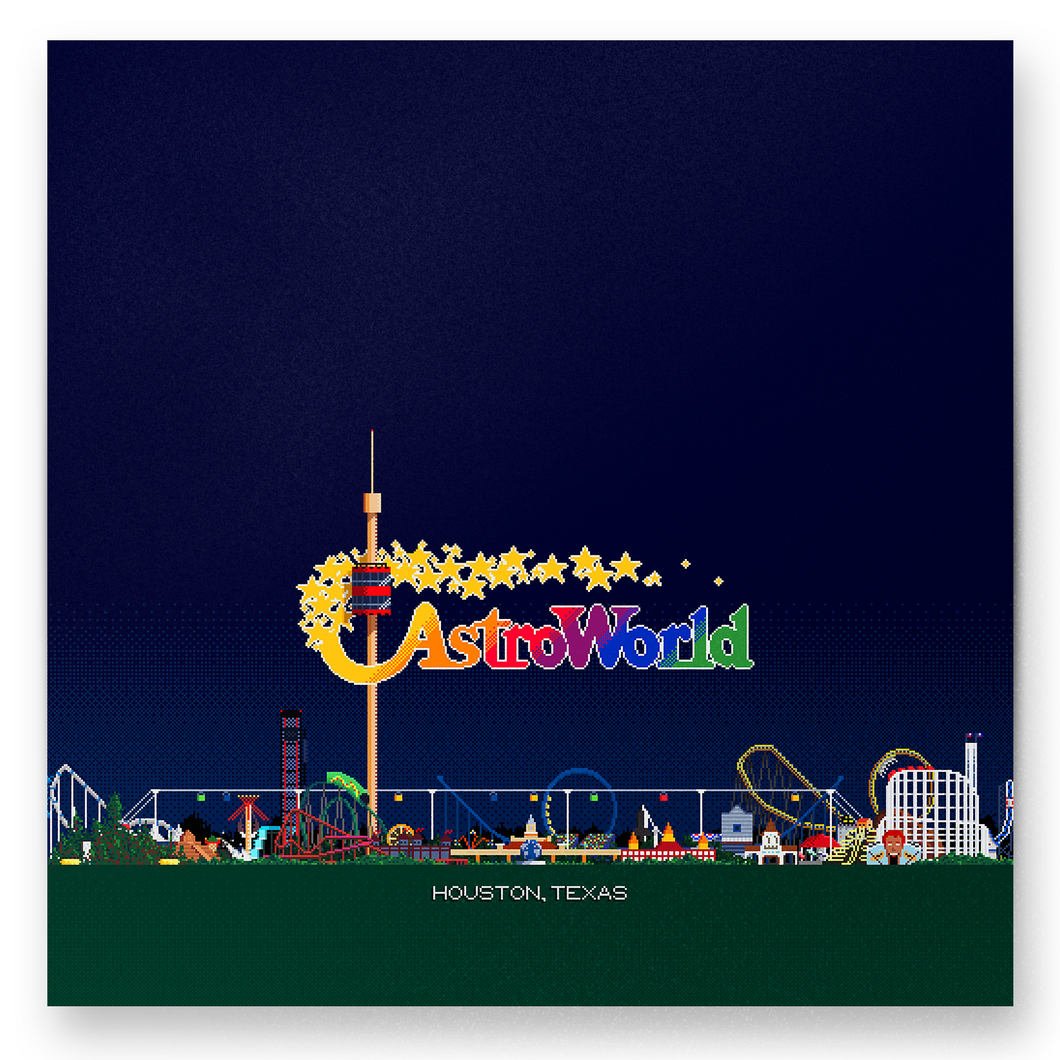 8-bit Astroworld Skyline