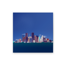 Load image into Gallery viewer, 8-bit Houston Skyline (Blue) Print