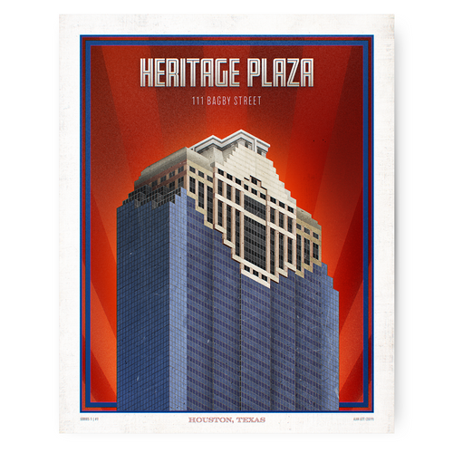 Houston Landmark Series- Heritage Plaza