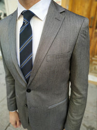 Grey blue slimfit men suit | AB10638 - Krudertailoring