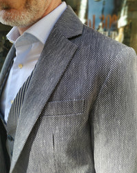 grey summer blazer