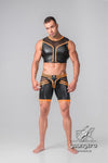 Maskulo Men's Zippered Rear Cycling Shorts