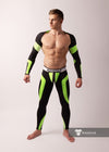 Maskulo neon open rear leggings