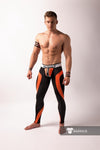 Maskulo Men's  Zipped rear Leggings