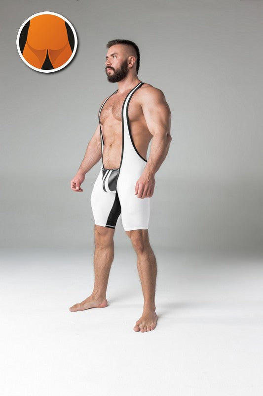 Maskulo regular rear wrestling singlet