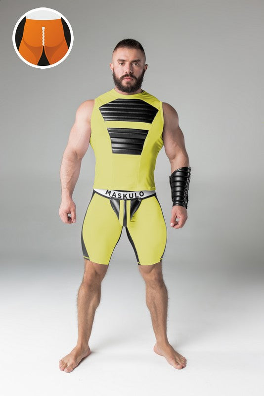 Markdown. Maskulo rear zipper cycling shorts. Material defects