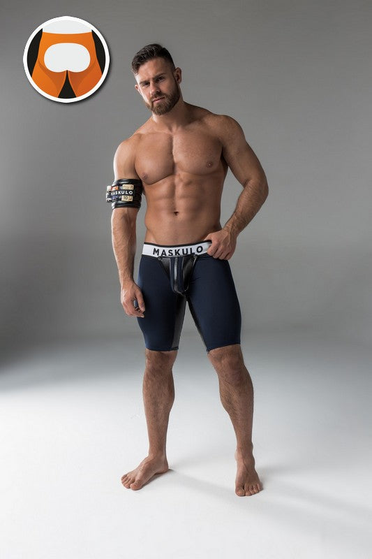 Maskulo open rear cycling shorts