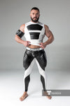 Maskulo open rear leggings