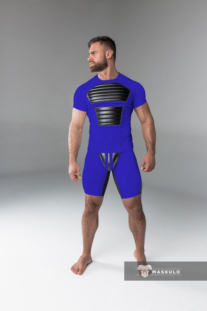 Maskulo front pads spandex T-shirt