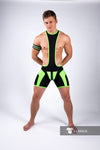 Maskulo neon regular rear wrestling singlet