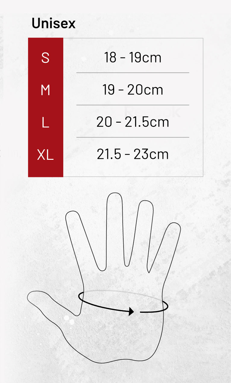 Fitness Glove Sizing