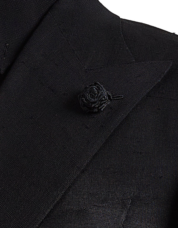 Handmade Lapel Rose (BLACK)
