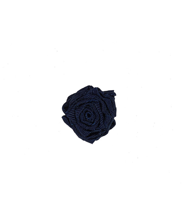 Handmade Lapel Rose (NAVY)