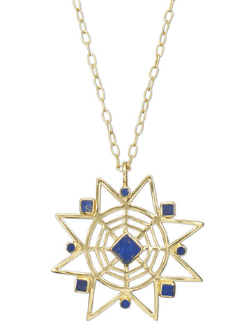 Star Lapis Pendant Necklace