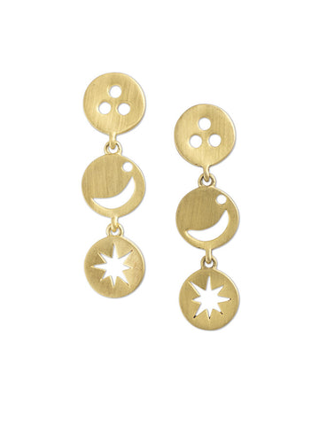 Zada Sun, Moon & Stars Earrings