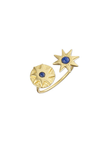 Lapis Double Star Ring