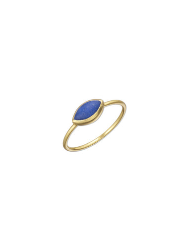 Small Lapis and Gold Ring