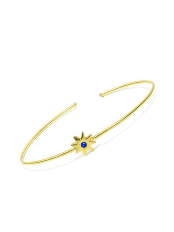Large Lapis Star Bangle