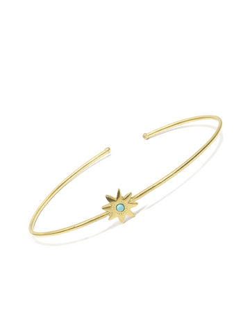 Large Turquoise Star Bangle