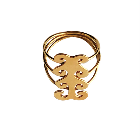 18K Gold large Ring