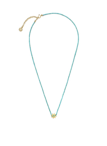 Turquoise Bead Necklace with Turquoise star