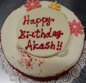 Birthday Cake Red Velvet with plaque