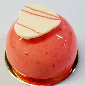 Half Sphere Strawberry Mousse